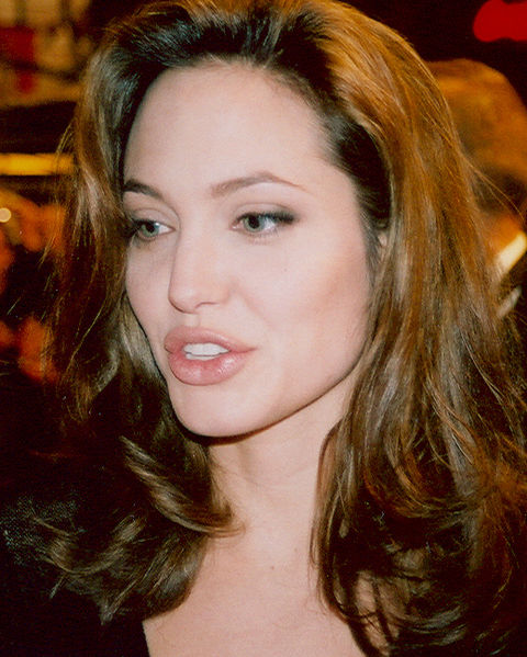Image of Angelina Jolie after a double Mastectomy